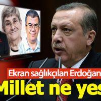 Erdoğan'dan ekrandaki sağlıkçılara tepki: Millet ne yesin?