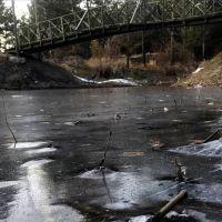 Erzurum donuyor! Gölet buz tuttu
