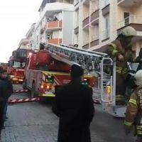 Esenyurt'ta 5 katlı binada yangın paniği