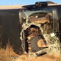 Eskişehir'de yolcu otobüsü devrildi: 13 yaralı