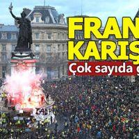 Fransa'da sarı yelekliler yeniden sokağa indi