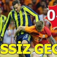 Galatasaray - Fenerbahçe maçı özeti