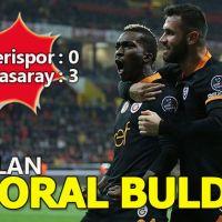 Galatasaray Kayseri deplasmanında 3 puanı kaptı