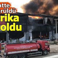 Gaziantep'te fabrika kül oldu