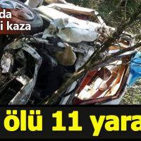 Giresun'da feci kaza: 5 kişi öldü