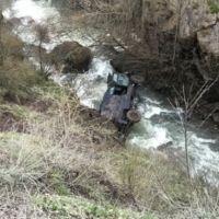 Giresun'da zırhlı polis aracı dereye yuvarlandı!