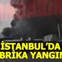 Güngören'de fabrikada yangın! Ekipler bölgeye sevk edildi