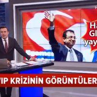 Haber Global'in İmamoğlu'nun VIP salonu önündeki sözlerini yayınlaması
