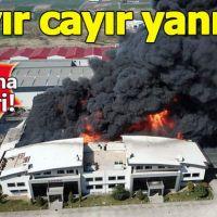 Hadımköy'de kimya fabrikasında yangın!