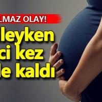 Hamileyken ikinci kez hamile kaldı