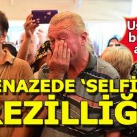 Harun Kolçak'ın cenaze töreninde selfie ayıbı!