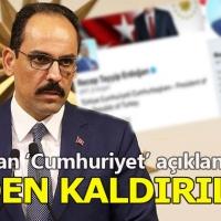 İbrahim Kalın'dan 'Türkiye Cumhurbaşkanı' açıklaması