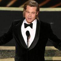 İlk Oscar'ını alan Brad Pitt'ten Donald Trump'a gönderme