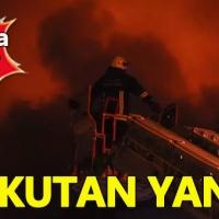 İnegöl'de mobilya imalathanesinde korkutan yangın