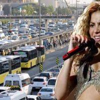 İstanbul'da Shakira trafiği! Yollar kapatılıyor