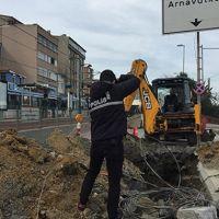 İstanbul'da toprak çöktü!
