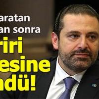 İstifa eden Hariri sonunda Lübnan'a döndü