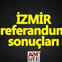 İzmir referandum sonuçları - evet mi hayır mı oy oranları ilçe oyları YSK