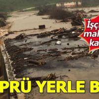 İzmir'de heyelan köprüyü çökertti