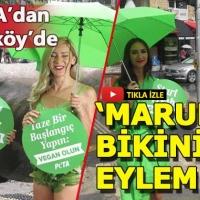 Kadıköy'de bir garip 'Et yemeyin' eylemi