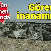 Karaman'da şaşırtan obruklar