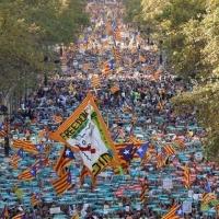Katalonya'da dev protesto gösterisi