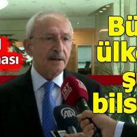 Kemal Kılıçdaroğlu'ndan Erbil patlamasına ilişkin açıklama geldi