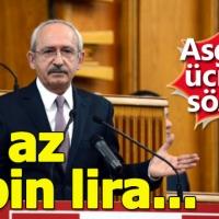 Kılıçdaroğlu açıkladı - Asgari ücret 2 bin lira mı olacak - CHP Grup Toplantısı