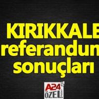 Kırıkkale referandum sonuçları - evet mi hayır mı oy oranları ilçe oyları YSK