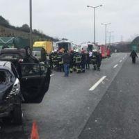Kocaeli'de TEM'de zincirleme kaza: 1'i çocuk, 8 yaralı