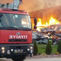 Konya'da fabrika yangını