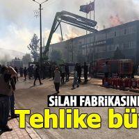 Konya'da silah fabrikasında yangın çıktı