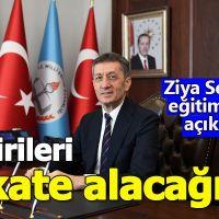 MEB bakanı Ziya Selçuk'tan yeni eğitim modeliyle ilgili açıklama geldi