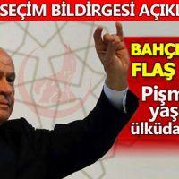 MHP'nin seçim bildirgesi açıklamasında Bahçeli'den büyük çağrı...