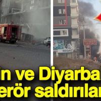 Mardin ve Diyarbakır'da terör saldırısı: Ölü ve yaralılar var
