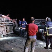 Mardin'de korkunç kaza! Ölü ve yaralılar var