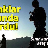 Mardin'de sınır karakoluna ateş açılırken misliyle karşılık verildi