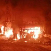 Mersin'de seyir halindeki otobüs alev aldı