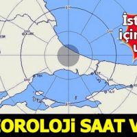 Meteoroli, İstanbul'da yağmur için saat verdi