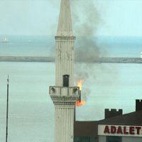'Minare yanıyor'