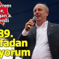Muharrem İnce Kırşehir'deki mitinginde Erdoğan'a yüklendi