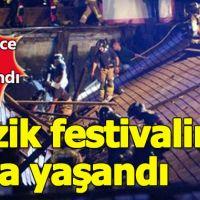Müzik festivalinde facia 266 kişi yaralandı