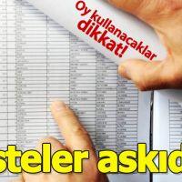 Nerede oy kullanacağım - Seçmen listesi isim sorgulama YSK - 31 Mart 2019 Yerel Seçimleri
