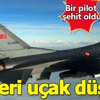 Nevşehir'de askeri uçak düştü! Bir pilot şehit oldu!