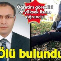 Nevşehir'de öğretim görevlisi ve yüksek lisans öğrencisi ölü olarak bulundu