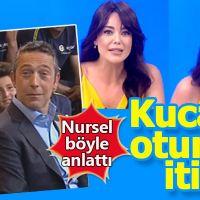 Nursel Ergin'in Rıdvan Dilmen'in kucağına oturması