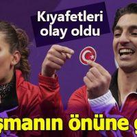 Olimpiyatlara katılan Türk çiftin kıyafeti Avrupa basınında!