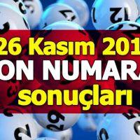 On numara çekiliş sonuçları 26 Kasım 2018 | Milli Piyango İdaresi kupon sorgulama ikramiye tutarı 26.11.2018
