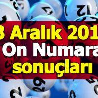 On numara çekiliş sonuçları 3 Aralık 2018 | Milli Piyango İdaresi kupon sorgulama ikramiye tutarı 03.12.2018