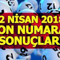On numara sonuçları 2 Nisan 2018 - Büyük ikramiye nereye çıktı - Milli Piyango İdaresi resmi sonuçlar
